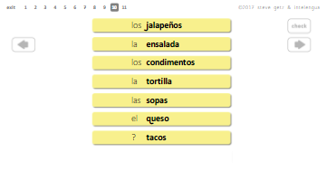 spanish vocabulary transitive verbs intelengua