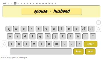 spanish vocabulary family intelengua