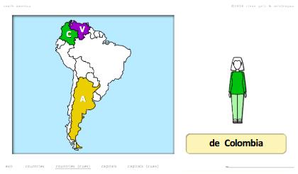 steven getz intelengua spanish powerpoint de dónde es with maps south america