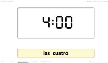 steven getz intelengua spanish powerpoint time qué hora es on the hour