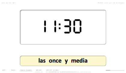 steven getz intelengua spanish powerpoint time qué hora es on the 30s