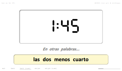 steven getz intelengua spanish powerpoint time qué hora es on the 15s