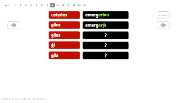 intelengua spanish verb conjugation practice app translating regular ER IR past perfect pluperfect introduction